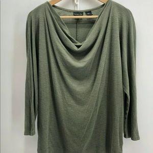 NWT Rachel Zoe drape neck sz M green shirt